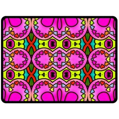 Colourful Abstract Background Design Pattern Double Sided Fleece Blanket (Large)