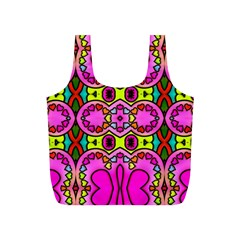 Colourful Abstract Background Design Pattern Full Print Recycle Bags (S)
