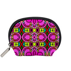 Colourful Abstract Background Design Pattern Accessory Pouches (Small)