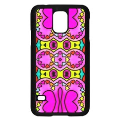 Colourful Abstract Background Design Pattern Samsung Galaxy S5 Case (Black)