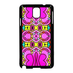 Colourful Abstract Background Design Pattern Samsung Galaxy Note 3 Neo Hardshell Case (black)