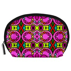 Colourful Abstract Background Design Pattern Accessory Pouches (large)