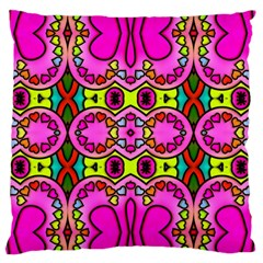 Colourful Abstract Background Design Pattern Large Flano Cushion Case (Two Sides)