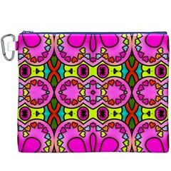 Colourful Abstract Background Design Pattern Canvas Cosmetic Bag (xxxl)
