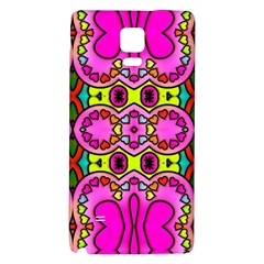 Colourful Abstract Background Design Pattern Galaxy Note 4 Back Case