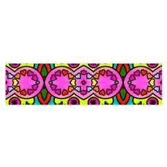 Colourful Abstract Background Design Pattern Satin Scarf (oblong)