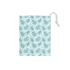 Decorative Floral Paisley Pattern Drawstring Pouches (small)