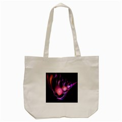 Fractal Image Of Pink Balls Whooshing Into The Distance Tote Bag (Cream)