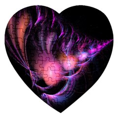 Fractal Image Of Pink Balls Whooshing Into The Distance Jigsaw Puzzle (heart)