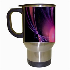 Fractal Image Of Pink Balls Whooshing Into The Distance Travel Mugs (White)