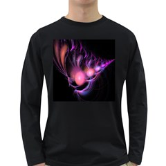 Fractal Image Of Pink Balls Whooshing Into The Distance Long Sleeve Dark T-Shirts