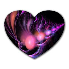 Fractal Image Of Pink Balls Whooshing Into The Distance Heart Mousepads