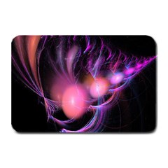 Fractal Image Of Pink Balls Whooshing Into The Distance Plate Mats