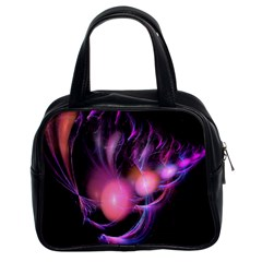 Fractal Image Of Pink Balls Whooshing Into The Distance Classic Handbags (2 Sides)