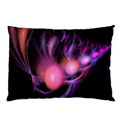 Fractal Image Of Pink Balls Whooshing Into The Distance Pillow Case
