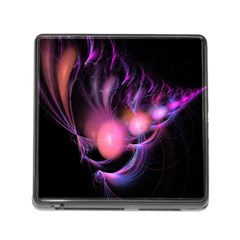 Fractal Image Of Pink Balls Whooshing Into The Distance Memory Card Reader (square)