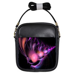 Fractal Image Of Pink Balls Whooshing Into The Distance Girls Sling Bags