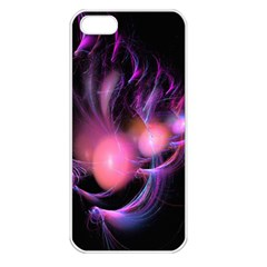Fractal Image Of Pink Balls Whooshing Into The Distance Apple Iphone 5 Seamless Case (white)