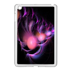 Fractal Image Of Pink Balls Whooshing Into The Distance Apple iPad Mini Case (White)