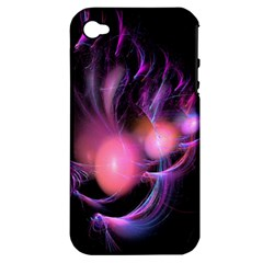 Fractal Image Of Pink Balls Whooshing Into The Distance Apple iPhone 4/4S Hardshell Case (PC+Silicone)