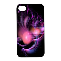 Fractal Image Of Pink Balls Whooshing Into The Distance Apple iPhone 4/4S Hardshell Case with Stand