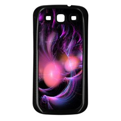 Fractal Image Of Pink Balls Whooshing Into The Distance Samsung Galaxy S3 Back Case (Black)