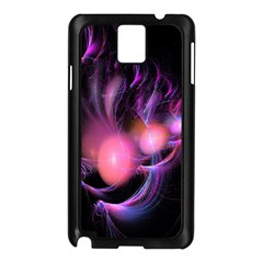 Fractal Image Of Pink Balls Whooshing Into The Distance Samsung Galaxy Note 3 N9005 Case (Black)