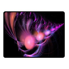 Fractal Image Of Pink Balls Whooshing Into The Distance Double Sided Fleece Blanket (Small)