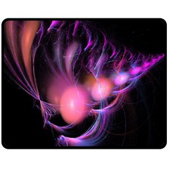 Fractal Image Of Pink Balls Whooshing Into The Distance Double Sided Fleece Blanket (Medium)