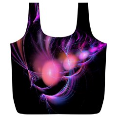 Fractal Image Of Pink Balls Whooshing Into The Distance Full Print Recycle Bags (L)