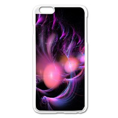 Fractal Image Of Pink Balls Whooshing Into The Distance Apple iPhone 6 Plus/6S Plus Enamel White Case