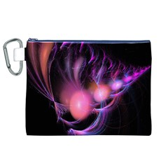 Fractal Image Of Pink Balls Whooshing Into The Distance Canvas Cosmetic Bag (xl)