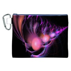 Fractal Image Of Pink Balls Whooshing Into The Distance Canvas Cosmetic Bag (XXL)