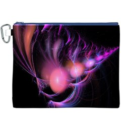 Fractal Image Of Pink Balls Whooshing Into The Distance Canvas Cosmetic Bag (xxxl)