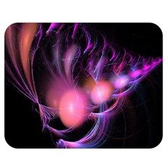 Fractal Image Of Pink Balls Whooshing Into The Distance Double Sided Flano Blanket (medium)
