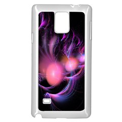 Fractal Image Of Pink Balls Whooshing Into The Distance Samsung Galaxy Note 4 Case (white)