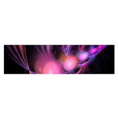 Fractal Image Of Pink Balls Whooshing Into The Distance Satin Scarf (oblong)