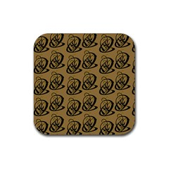 Art Abstract Artistic Seamless Background Rubber Square Coaster (4 pack)