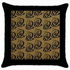 Art Abstract Artistic Seamless Background Throw Pillow Case (black)