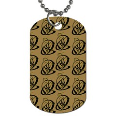 Art Abstract Artistic Seamless Background Dog Tag (Two Sides)