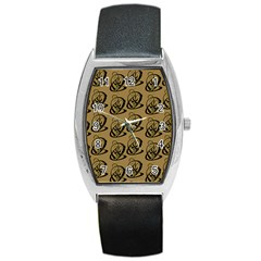 Art Abstract Artistic Seamless Background Barrel Style Metal Watch