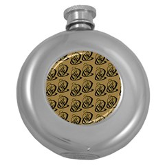 Art Abstract Artistic Seamless Background Round Hip Flask (5 oz)