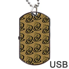 Art Abstract Artistic Seamless Background Dog Tag USB Flash (Two Sides)