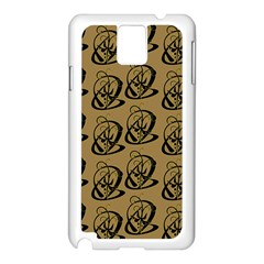 Art Abstract Artistic Seamless Background Samsung Galaxy Note 3 N9005 Case (White)