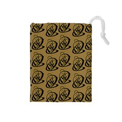Art Abstract Artistic Seamless Background Drawstring Pouches (Medium)