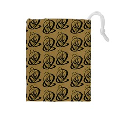 Art Abstract Artistic Seamless Background Drawstring Pouches (Large)