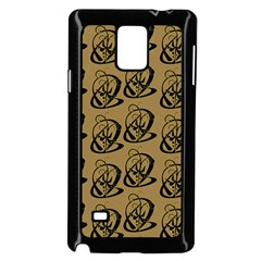 Art Abstract Artistic Seamless Background Samsung Galaxy Note 4 Case (black)