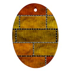 Classic Color Bricks Gradient Wall Ornament (oval)