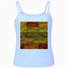 Classic Color Bricks Gradient Wall Baby Blue Spaghetti Tank