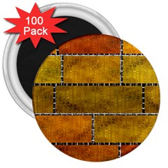 Classic Color Bricks Gradient Wall 3  Magnets (100 Pack)